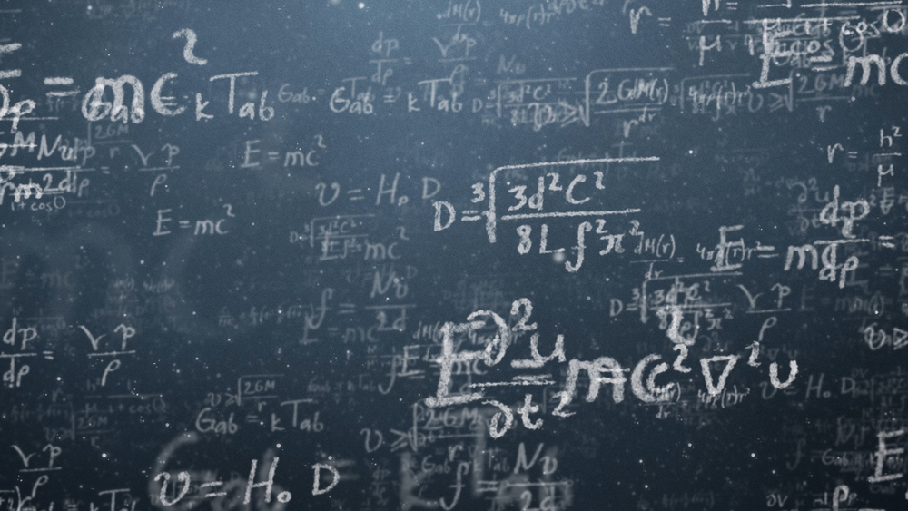 Blackboard with mathematics formulae